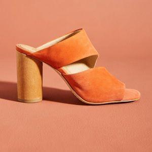NWT Splendid Serenade Suede Block Heel Sandals
